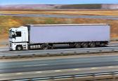 Truck transports freight — Zdjęcie stockowe