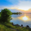 Summer landscape with lake — Stock Photo #63280343