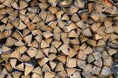 Woodpile background — Stock Photo