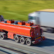 Gas-tank truck goes on highway — Stock Photo #69658407