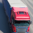 Truck moves on highway — Stock Photo #69658417