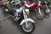 Motos sur un parking — Photo