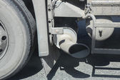 Exhaust pipe of the truck — Stock Photo