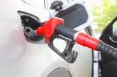 Car at gas station — Stock Photo