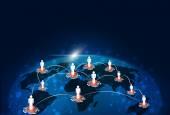 Globale verbindungen-technologie — Stockfoto
