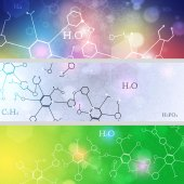 Science Banners — Stock Photo