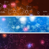 Abstract Technology and Science Banners — Stock Photo