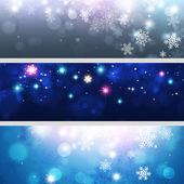 Snow Xmas Banners — ストック写真