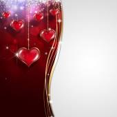 Valentine Red Gift Card — 图库照片