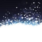 Holiday Lovely Hearts Background — Stock Photo