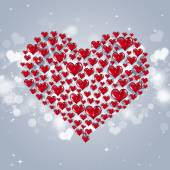 Valentine Red Hearts — Stock Photo