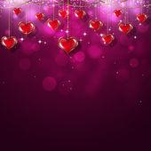 Valentine Red Hearts — Stock Photo