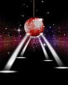 Disco Party Spotlights — Stock Photo