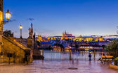 Night view of the Prague Castle — Stock Photo