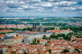 Top view of the skyline of Prague — Foto de Stock