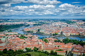 Top view of the skyline of Prague — 图库照片