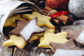 Star shape gingerbreads — Stock Photo