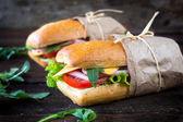 Panini sandwiches — Stock Photo