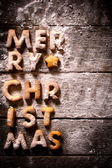 Merry Christmas letters — Stock Photo
