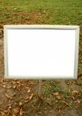 Small blank billboard — Stock Photo