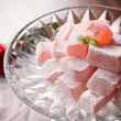 Traditional turkish delight with rose — Stock Photo #54500133