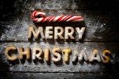 Merry Christmas cookies — Stock Photo