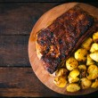 Potatoe and ribs — Stock Photo #55731149