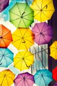 Lots of umbrellas — Stock Photo