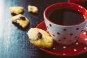 Coffee and cookies — Stock Photo