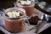 Chocolate pudding — Stock Photo