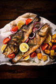 Prepared bass fish — Stock Photo