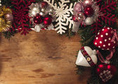 Blank space in Christmas decoration — Stock Photo