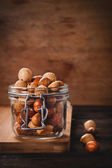 Asian mix with peanuts in the jar — Stock Photo