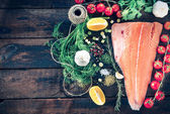 Big salmon sfillet — Stock Photo