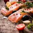 Salmon fillets — Stock Photo #62554357