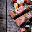 Salmon meal — Stock Photo #62554797