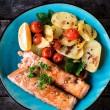 Prepared salmon fish — Stock Photo #62554895