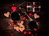 Hot cocoa and cookies — Stok fotoğraf