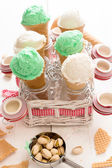 Ice creams in the jars — Stock Photo