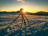 Shooting mountin landscape — Stock Photo