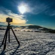 Camera shooting mountin landscape — Stock Photo #65522833