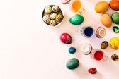 上からイースターの卵 — ストック写真