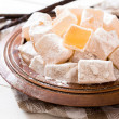 Traditional Turkish delights in the bowl — Stock Photo #66396841