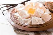 Traditional Turkish delights in the bowl — Stock Photo