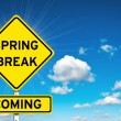 Spring break sign yellow road — Stock Photo #67101267
