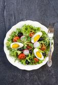 Vaječný salát — Stock fotografie