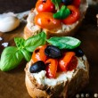Traditional bruschetta — Stock Photo #70680997