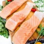 Raw salmon — Stock Photo #78708508