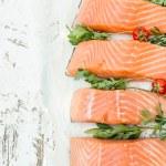 Raw salmon fish — Stock Photo #78756396
