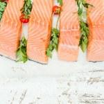 Raw salmon — Stock Photo #78757638